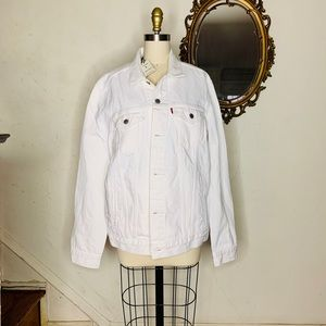 Levi's Premium Men's Large White Denim Jacket